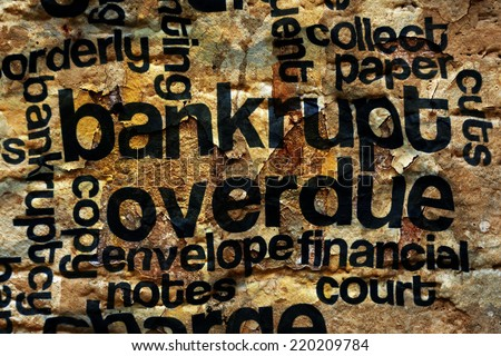 Bankrupt and overdue concept - stock photo