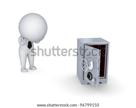 Bankruptcy concept.Isolated on white background.3d rendered. - stock photo