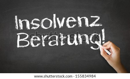 Bankruptcy Consulting (In German) - stock photo