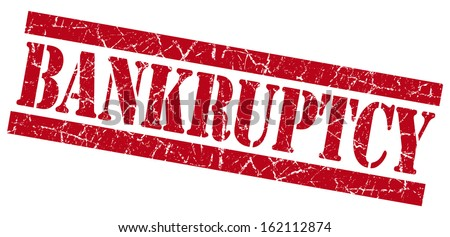 Bankruptcy grunge red stamp - stock photo