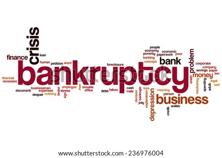 Bankruptcy word cloud concept - stock photo