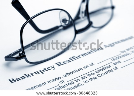 Bankruptsy agreement - stock photo