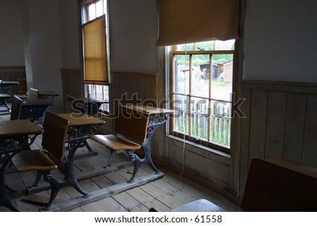 Bannack Schoolhouse - stock photo