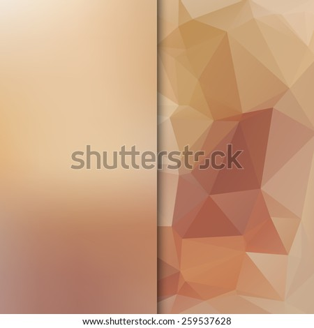 Banner design. Abstract template background with beige triangle shapes. - stock photo