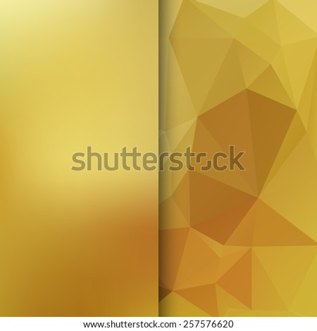 Banner design. Abstract template background with gold triangle shapes. - stock photo