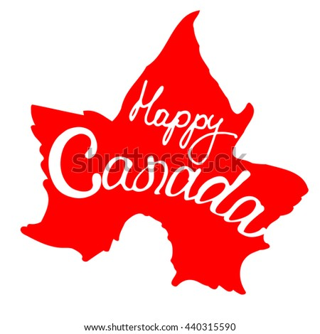 Banner for Canada day. Maple leaf, the traditional colors of the state flag. A vector copy in my portfolio.  - stock photo