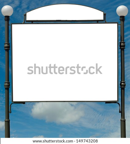 banner image on the background of sky and clouds - stock photo
