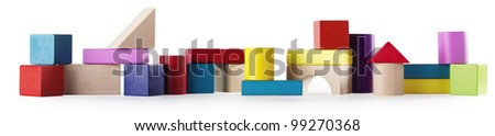 banner of colored blocks - stock photo