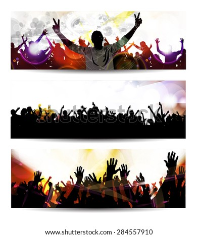 Banner of music party event - stock photo