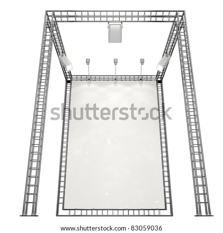 banner with light on truss system