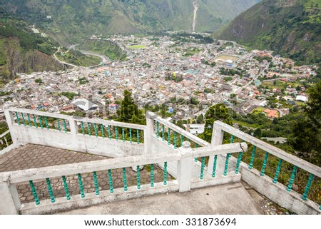 Banos Canton Is A Canton Of Ecuador Located In The Tungurahua Province View From Mirador De La Virgin