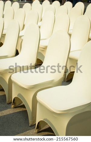 Banquet Chairs - stock photo