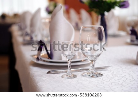 banquet in a restaurant - wedding decorations