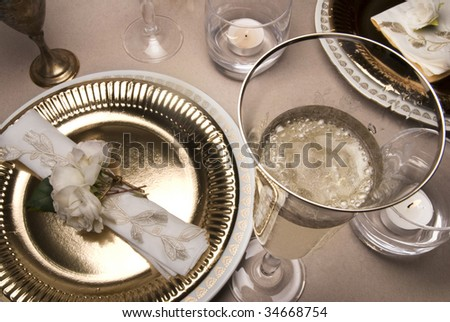 Banquet serve - stock photo