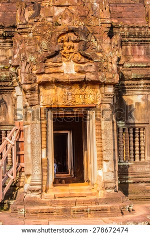 Banteay Samre,  a temple at Angkor, Cambodia. Built in the early 12th century