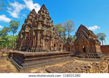Banteay Srei,Ankor Wat,Cambodia - stock photo