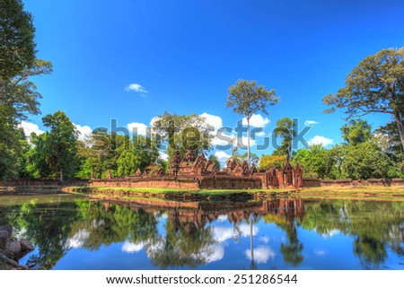 Banteay Srei or Lady Temple at Siem Reap Cambodia - stock photo