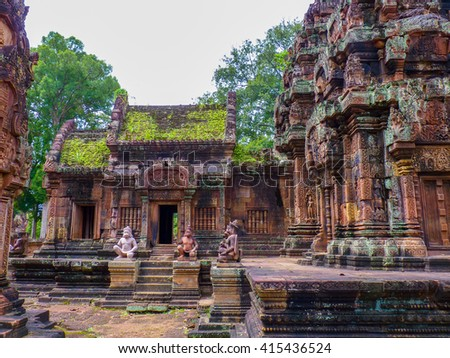Banteay Srei ruins temple in Siem Reap, Cambodia