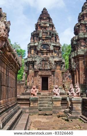 Banteay Srey, Cambodian temple - stock photo
