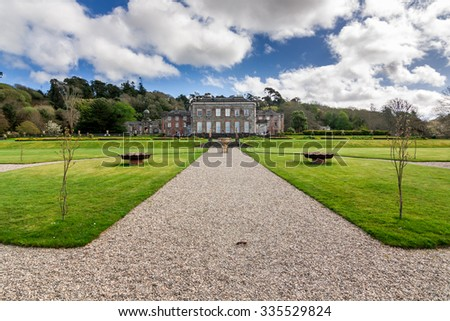 BANTRY HOUSE, COUNTY CORK, IRELAND. - APRIL 11, 2011: Classic B&B in a stately 18th-century mansion is set in formal gardens on the southern shore of Bantry Bay.