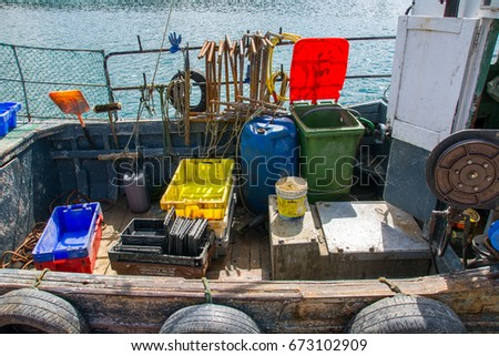 Bantry,Ireland - August 15, 2016:  Fishing boat on Bantry Bay