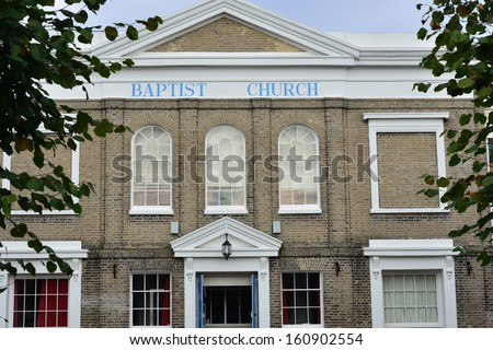 Baptist Church Colchester Essex - stock photo