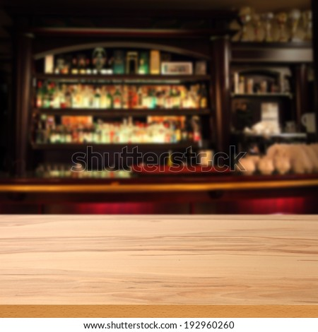 bar and bottles  - stock photo