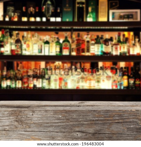 bar and desk of gray  - stock photo