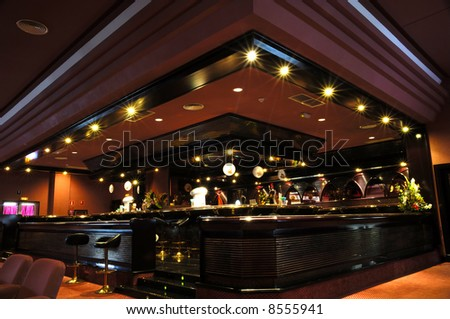 Bar at a trendy nichtclub - stock photo