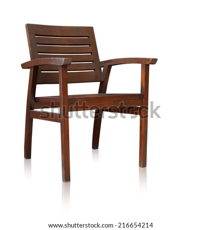 Bar chair isolated by hand made over white background, clipping path. - stock photo
