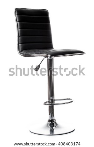 bar chair isolated on white. Single stool - stock photo