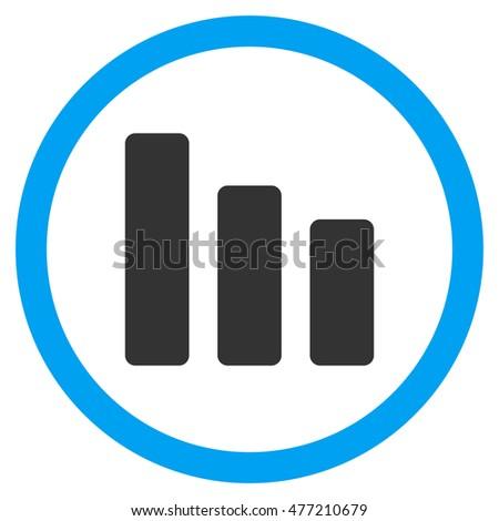 bar chart decrease glyph bicolor rounded stock illustration rh shutterstock com