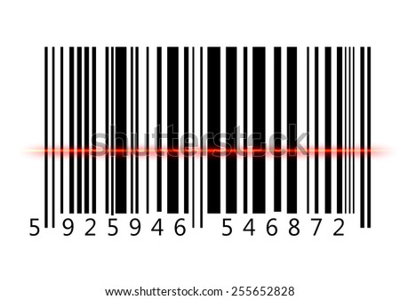 Bar Code , computer generated image. Rendered image. - stock photo