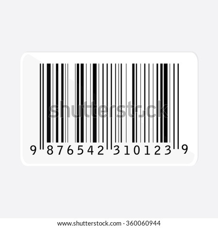 Bar code isolated raster illustration. Barcode icon. Bar code tag, sticker - stock photo