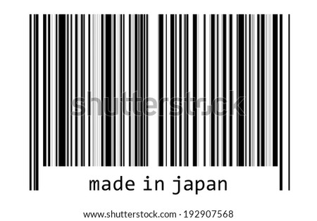 Bar code - made in japan