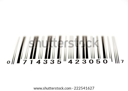 Bar Code Shot From Below With Shallow Depth Of Field/ Bar Code