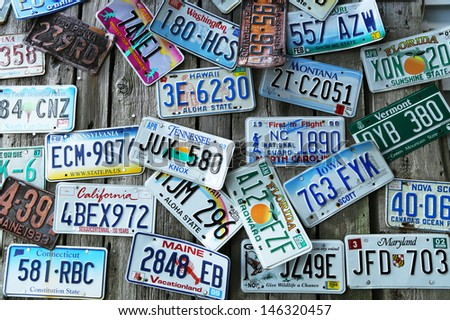 Ups Commercial Invoice Pdf License Stock Images Royaltyfree Images  Vectors  Shutterstock Sears Store Return Policy No Receipt with Invoice Clerk Duties Word Bar Harbor Maine  July  Old Car License Plates On The Wall In Osceola County Business Tax Receipt Word