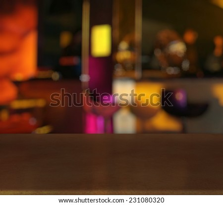 bar in a night club - stock photo