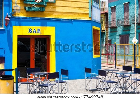 Bar in Caminito, Buenos Aires - Argentina  - stock photo