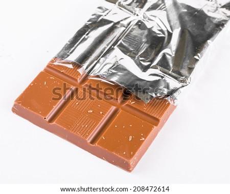 Bar of chocolate - stock photo