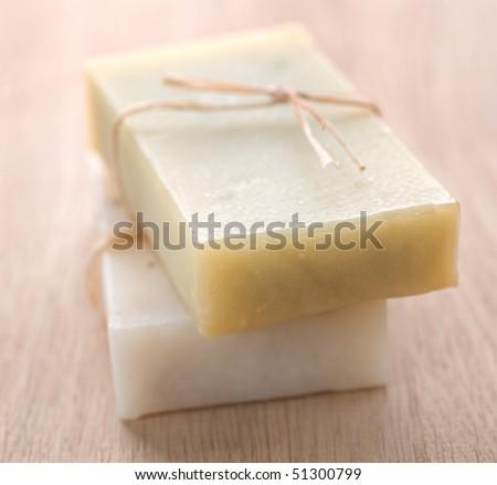Bar of Natural Soap - stock photo