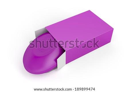 Bar of soap on white background  - stock photo