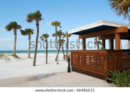 Bar on Clear Water Beach, Florida, USA