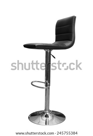 bar or office chair isolated on white - stock photo