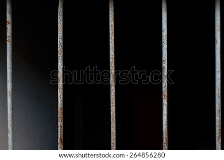 bar prison close-up - stock photo