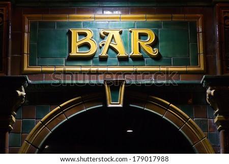 Bar sign - stock photo