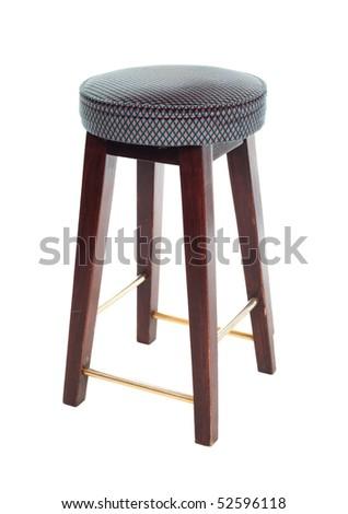 Bar stool isolated on white background - stock photo