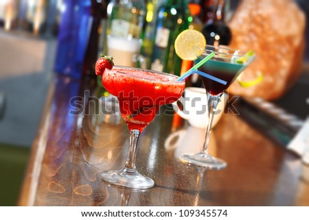 Bar with Cocktail Drink