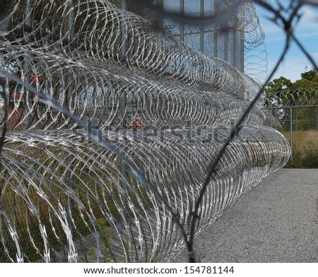 Barb Wire close up - stock photo