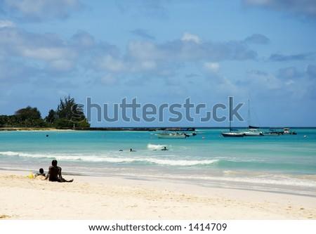 Barbados Beach - stock photo